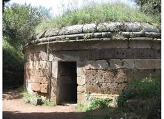 Etruscan necropolis, Cerveteri. The tombs of the wealthy were marvelous round structures.