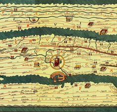 """Ancient World Maps: century. This Roman map of the ancient world shows the road network in the Roman Empire--it covers Europe, parts of Asia (India) and North Africa. """"All roads lead to Rome. Old Maps, Antique Maps, Vintage Maps, Ancient Rome, Ancient History, Empire Romain, Map Globe, Roman History, Historical Maps"""