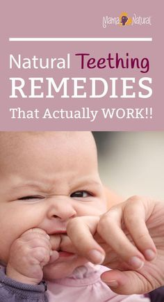 Here are six all-natural teething remedies that actually work! Ease teething pain and restore sanity to your house with these safe and natural remedies. http://www.mamanatural.com/6-natural-teething-remedies/