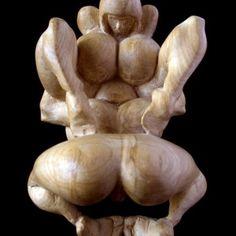 Wood carving art erotic