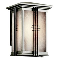 KICHLER Portman Square Arts and Crafts/Mission Outdoor Wall Sconce - craftsman - Lighting - Arcadian Home & Lighting Wall Fires, Outdoor Wall Sconce, Outdoor Wall Lights, Craftsman Lighting, Outdoor Walls, Kichler Lighting, Outdoor Sconces, Exterior Wood, Transitional Lighting