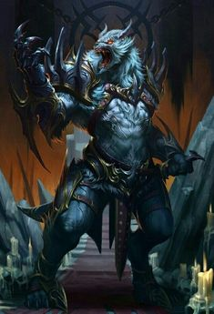 Werewolf Fighter - Pathfinder PFRPG DND D&D d20 fantasy