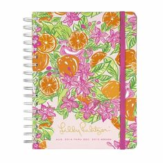 Lilly Pulitzer Orange Grove Monkeys 2015 Large Agenda Planner - GirlyTwirly.com