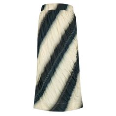 $510.0. 3.1 PHILLIP LIM Skirt Printed Satin Midi Skirt #31philliplim #skirt #midiskirt #silk #clothing Green Satin, Green Silk, Satin Midi Skirt, Silk Dress, Tailored Trousers, Top Stitching, 3.1 Phillip Lim, Flare Skirt, Mini Skirts