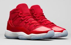 "0ad2b7582fe2 2017 New Air Jordan 11 ""Win Like 96″ Gym Red White-Black"