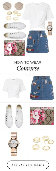 """""""Untitled #189"""" by moralchen on Polyvore featuring T By Alexander Wang, Marc Jacobs, Gucci, Converse and Charlotte Russe"""