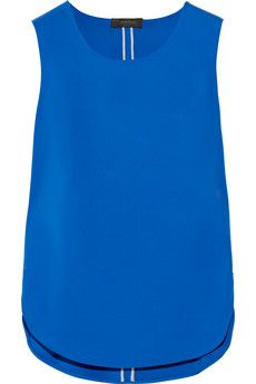 Calvin Klein Collection Trandem stretch-jersey top | NET-A-PORTER