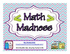 Calendar Math Madness Common Core