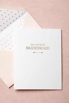 To-The-Heart Bridesmaid Card in SHOP Décor Stationery at BHLDN