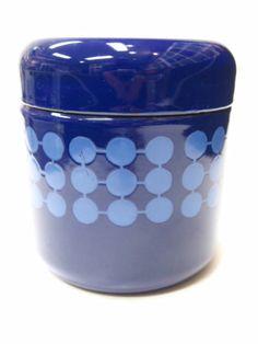 Finel Arabia Finland Blue Jar 1960s | eBay Marimekko, Mid Century Style, Metal Tins, Accent Pieces, Scandinavian Design, Kitchenware, Cool Kitchens, Finland, Retro Vintage