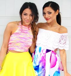 Niki and Gabi from YouTube, I like Niki's outfit, and Gabi's makeup
