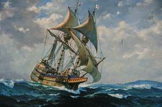 The Mayflower . . . A Painting