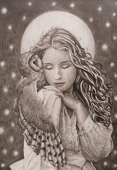 inspired by one of Katerina Plotnikova photos, i made it look dreamier-i hope you like it around 20 hours work on A4 paper, pencils used 2,3,4B if you wish you can join me on facebook at: www...