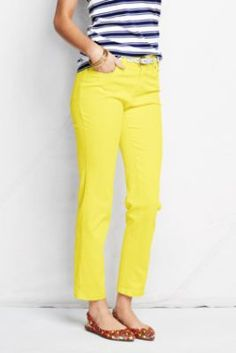 Women's Colored 5-pocket Ankle Jeans - Fit 1