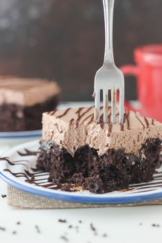 Dig into this Hot Chocolate Poke Cake. You know you want to! from @chocolatemore