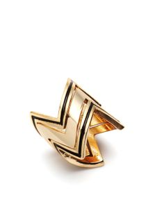 Set of 3 Jagged Stack Rings by House of Harlow 1960 at Gilt