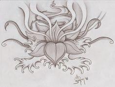Sketsa Bunga Teratai | Gambar Pemandangan
