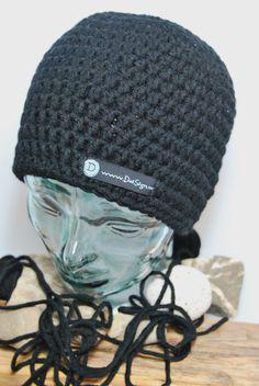 ... NEU ... - von DaiSign - schwarze Männermütze:  Mütze / Beanie in schwarz  für Männer / Herren von DaiSign auf DaWanda.com
