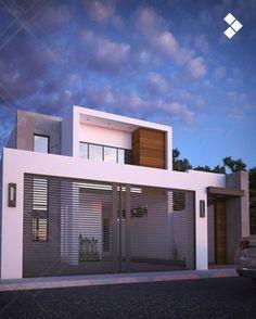 Modern home by cdr constructora modern Modern Exterior, Exterior Design, Facade House, Modern House Design, Modern Houses, House Front, Simple House, Minimalist Home, My Dream Home