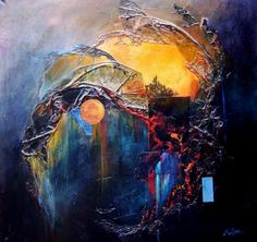 mixed media paintings | Artissimo 1 by Joe Martino, abstract artist