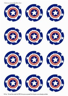 top -  os vingadores Captain America Party, Captain America Birthday, Superhero Party Food, Superhero Symbols, Love Silhouette, Wonder Woman Party, Star Wars Party, Childrens Party, Minion