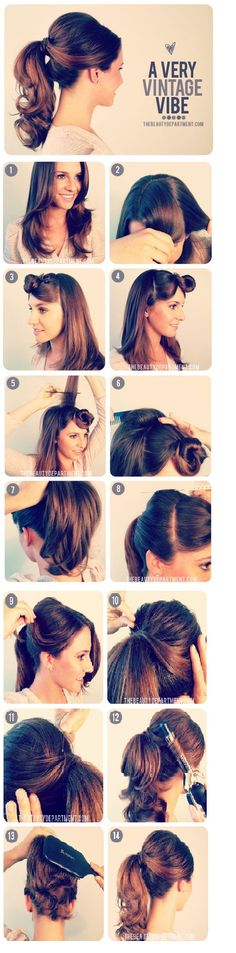 1950's inspired pony tail