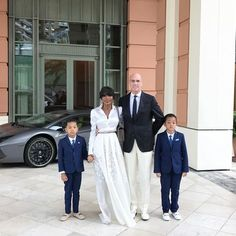 Gorgeous and well-dressed interracial family at the Monte Carlo Bay Hotel & Resort #love #wmbw #bwwm #swirl #biracial #mixed #lovingday