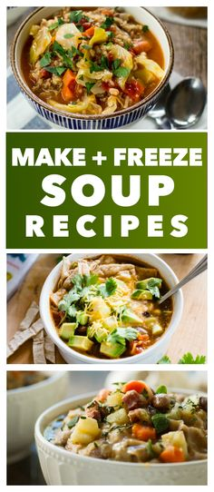 20 Fall Soup Recipes to Make Ahead and Freeze - These warm, hearty and easy soups are great to make and freeze for an easy family dinner.