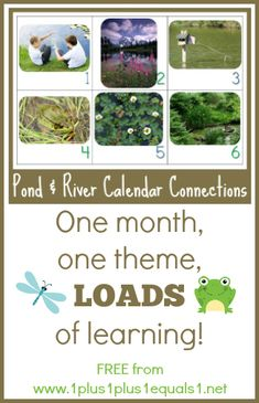 Pond and River Theme Calendar Connections {free} from @{1plus1plus1} Carisa