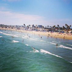 The view of Newport Beach from the pier. My buddy George lives about right in the middle, a couple of blocks from the beach!