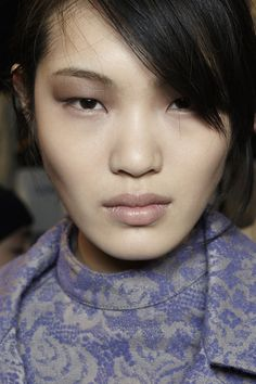 How to create a dramatic eye with taupe shadow, as seen at Richard Chai Love F/W '13