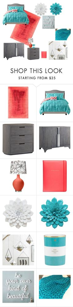 """""""Untitled #292"""" by mcl2000 on Polyvore featuring interior, interiors, interior design, home, home decor, interior decorating, Kate Spade, Brownstone, Roost and PBteen"""