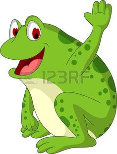Cute frog cartoon smiling vector image on VectorStock Frog Cartoon Images, Cartoon Whale, Sheep Cartoon, Cute Cartoon Animals, Cartoon Kids, Alien Drawings, Cartoon Drawings, Cute Drawings, Cute Lion