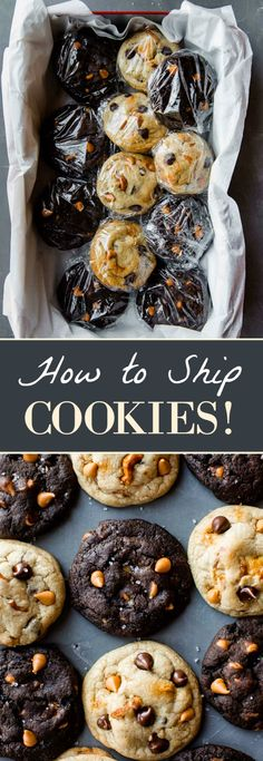 Here's the best way to ship cookies this holiday season. Send cookies safely so they stay fresh with no breakage! Send Cookies, Mailing Cookies, Holiday Cookies, Best Cookie Recipes, Baking Recipes, Holiday Recipes, Köstliche Desserts, Delicious Desserts, Dessert Recipes