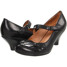 Black high heels (Miz Mooz Petal, $119.95, Zappos.com -- I want these in brown, too.)