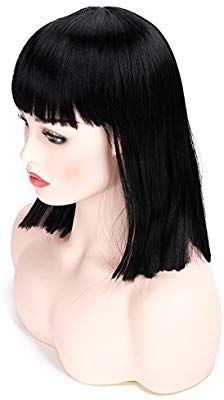 lace front wigs black Natural Color Cheap Lace Wigs Deals 2018 Black F – wigbaba Short Straight Bob, Thing 1, Wigs With Bangs, Black Wig, Hair Density, Lace Hair, Costume Wigs, Wig Styles, Wig Cap