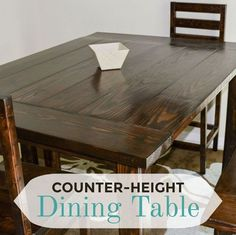 diy counter height dining table, dining room ideas, diy, painted furniture, woodworking projects