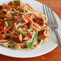 Thai Peanut Tofu or Chicken Noodles