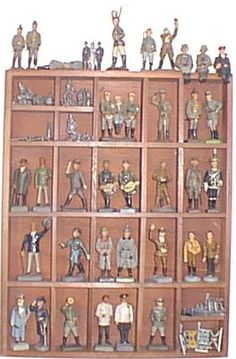 """Collecting Toy Soldiers and how to display them.   Click on """"home"""" at the bottom of the page for the main page.  [no picture on the home page to Pin]"""