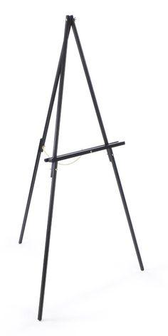 Wood Display Easel for Floor, Standard Tripod Design, 34 x 59.5 - Black