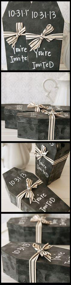 Halloween Chalkboard Coffin Invitation Project a5e78f8b7edf