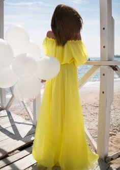 2016 Yellow Long Dress Floor Long Sundresses Beach Long Chiffon Dresses Sundresses Pink Chiffon Dress Off Shoulder Yellow Dress Pink Chiffon Dress, White Maxi Dresses, Floral Maxi Dress, Sexy Dresses, Pleated Dresses, Chiffon Fabric, Yellow Dress, Woman Dresses, Club Dresses