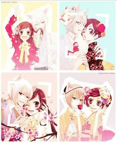 Nanami Momozono and Tomoe - Tomomi Kamisama Kiss, Otaku, Tomoe And Nanami, Manga Art, Manga Anime, Hirunaka No Ryuusei, Fox Spirit, Fanart, Video Game Anime