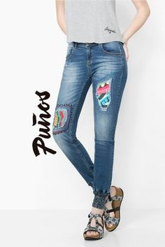 Denim Desigual Jeans Africa Arrow Denim Patchwork 9dc5326db2