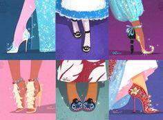 """ディズニーのデザイナーが描く""""有名ブランドの靴を履いたディズニープリンセス""""が素敵!"""