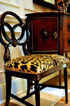 scalamandre leopardo velvet + great trim