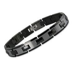 Men's Two-Tone Black and Gunmetal Tungsten Bracelet - Gunmetal and polished black tungsten give this two-tone men's bracelet a contemporary look that catches the eye. One of our most attractive men's tungsten bracelets, ladies love the sleek and sexy look Braided Bracelets, Bracelets For Men, Fashion Bracelets, Cuff Bracelets, Fashion Jewelry, Tungsten Bracelet, Tungsten Jewelry, Men's Jewelry Store, Jewelry Gifts