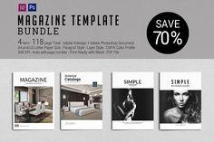 Magazine Template BUNDLE by tujuhbenua on @creativemarket