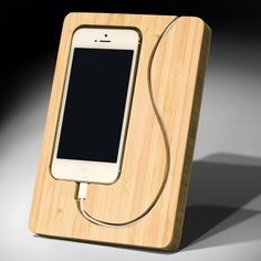 Chisel iPhone Dock - $42; Featuring a minimalistic design with a touch of eco-friendliness, the Chisel 5 iPhone Dock is handcrafted from renewable bamboo and offers a unique yet stylish alternative to a generic iPhone dock #Petagadget