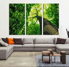 Large Wall Art Canvas Prints - Dry Tree Branches Wall Art - Forest Can | Extra Large Wall Art Canvas Print